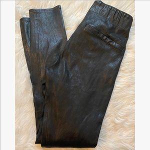 Rag & Bone Black Sammy Leather Leggings